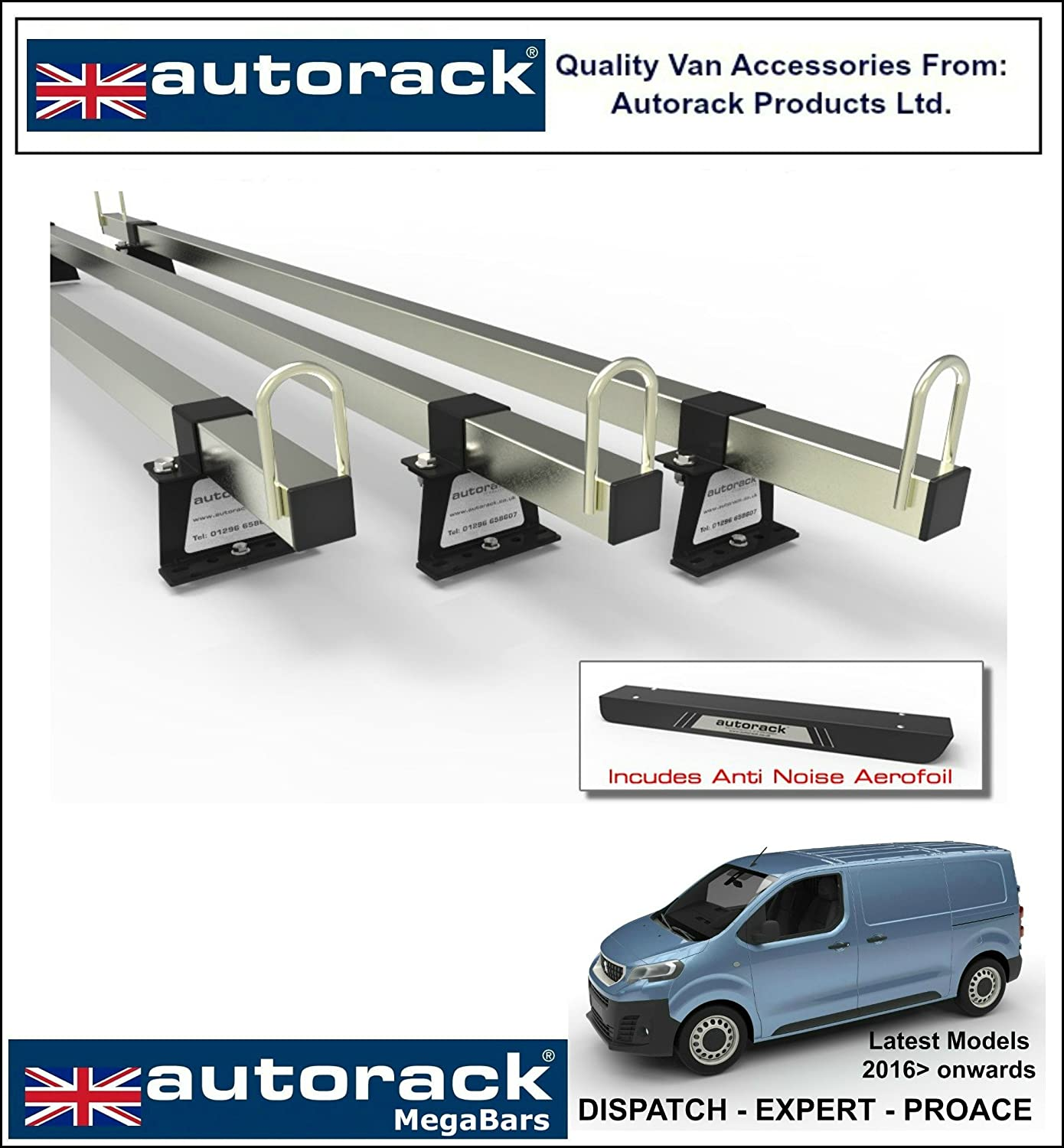 2006-onward with rear roller CITROEN RELAY Mk2 Van Roof Rack 3 Bars for WorkReady AutoRack