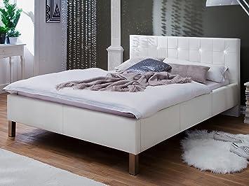 Polsterbett Bettrahmen Doppelbett Kunstlederbett Bettgestell Bett