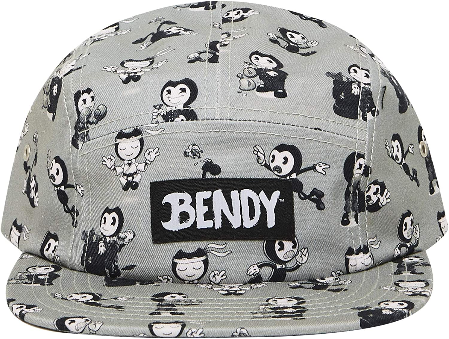Bendy and the Ink Machine Hat - Black and White Bendy Hat - Bendy Snapback Hats (All Over)
