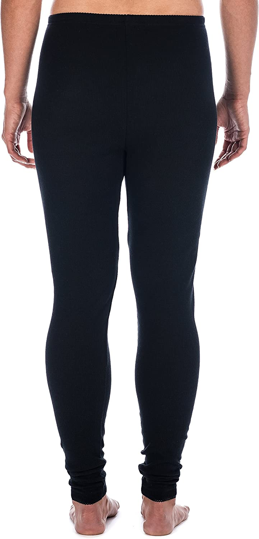 Noble Mount Womens Classic Waffle Knit Thermal Long John Pants