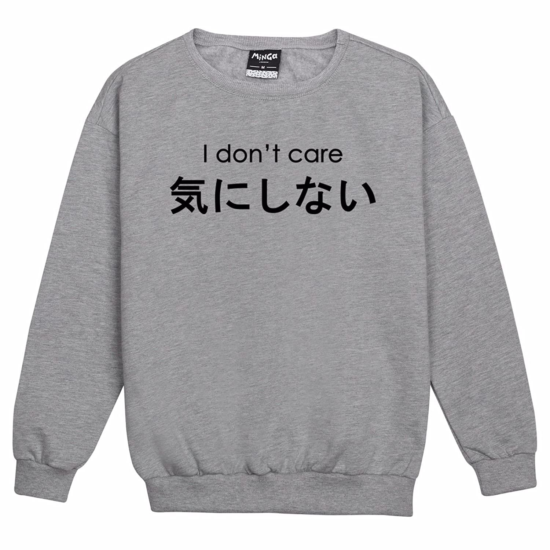 Amazon.com: Minga London I Dont Care Sweater Top Womens Fun ...