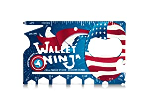 LIMITED EDITION: USA PRIDE Wallet Ninja- 18 in 1 Credit Card Sized Multitool (#1 Best Selling in the World)