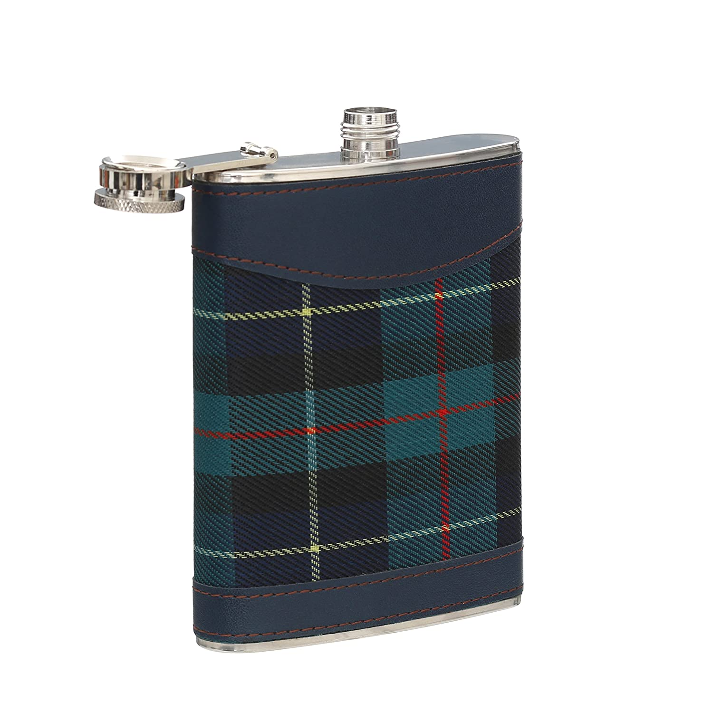 Green Premier Housewares Tartan Hip Flask 8 oz