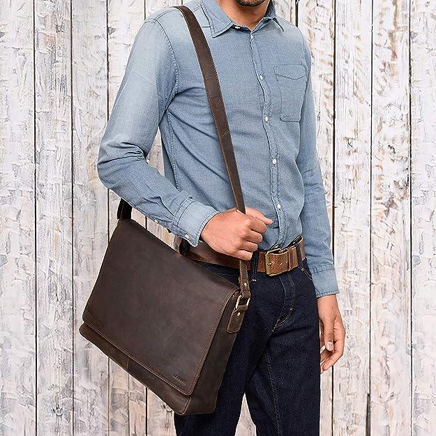 dab1b53fa968 Amazon.com  LEABAGS Oxford - Messenger Bag Briefcase Laptop Bag 13 Inch  Genuine Leather - Muskat  Shoes