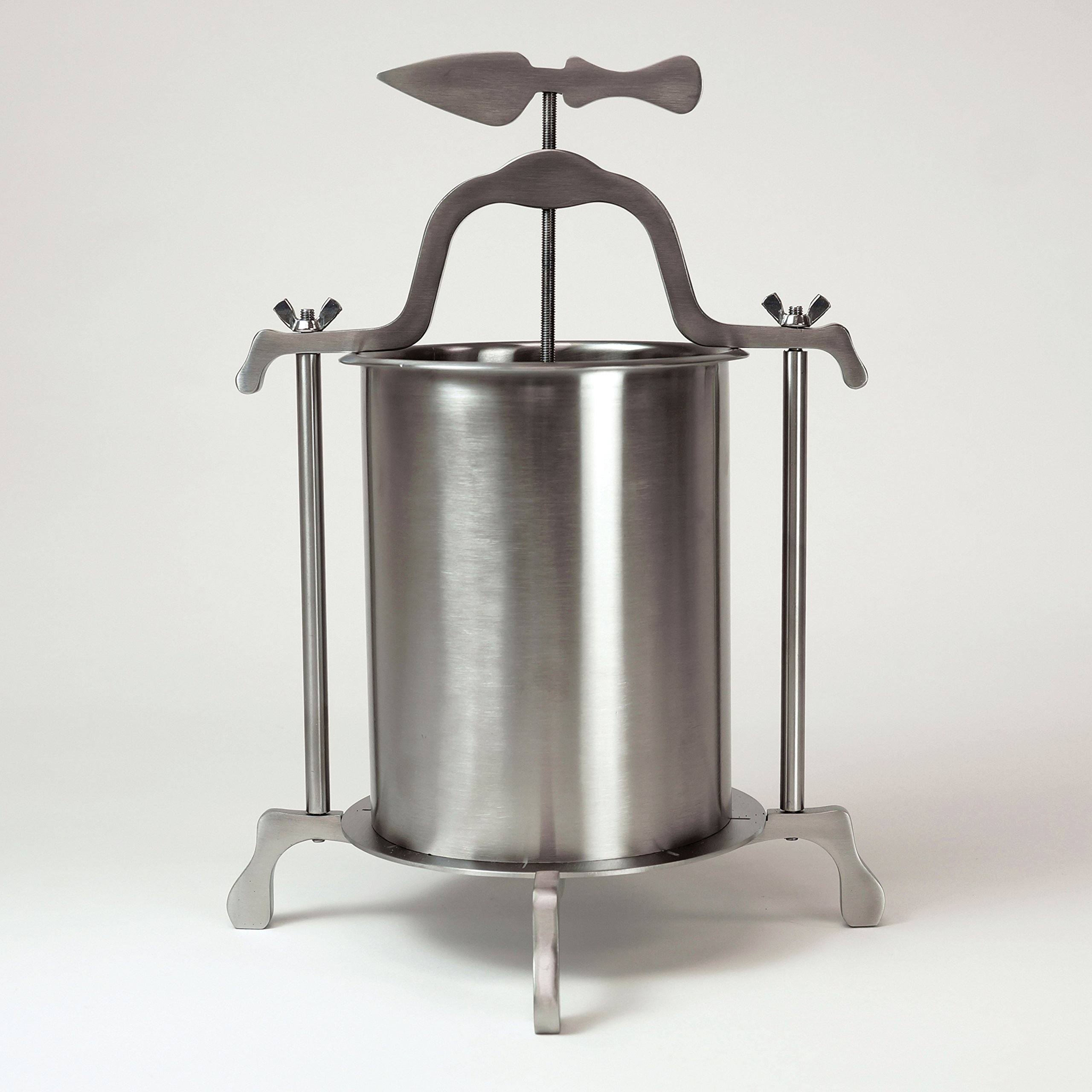 Whey Station Stainless Steel Cheese Press for Home Cheese Making