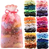 60 Pcs Premium Velvet Hair Scrunchies Hair Bands for Women or Girls Hair Accessories with Gift Bag,Great Gift for Holiday Sea
