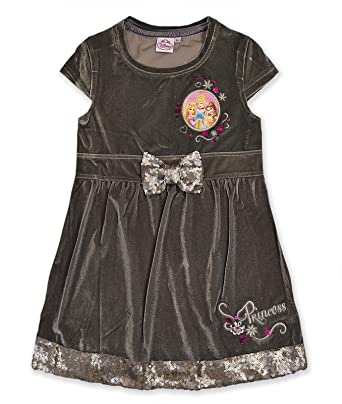 b6c0aaa145b6 Girls Disney Princess Velour Winter Dress Kids Party Dresses Age 3 4 ...