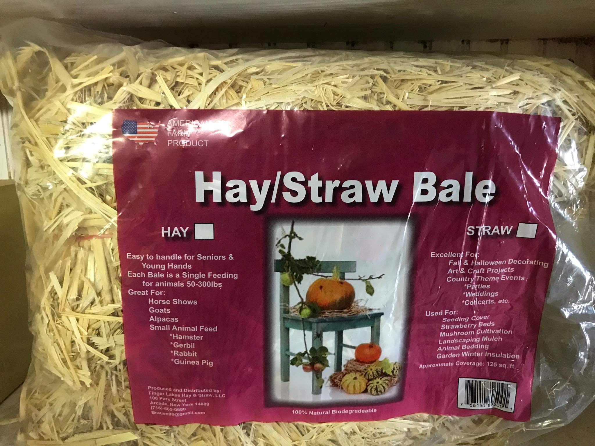 Hay Bale for Autumn Harvest Decoration, Hay Pet Food Signal Feeding for Animal 50-300LBS