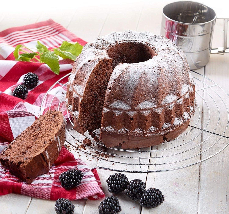 WENTS Molde Savarín Hondo para Bizcocho Forma Bundt Cake para ...