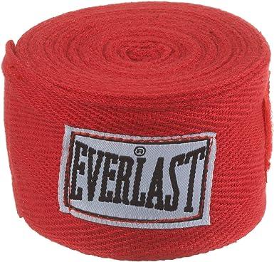 Everlast 4455R - Venda rígida, Color Rojo: Amazon.es: Deportes y aire libre