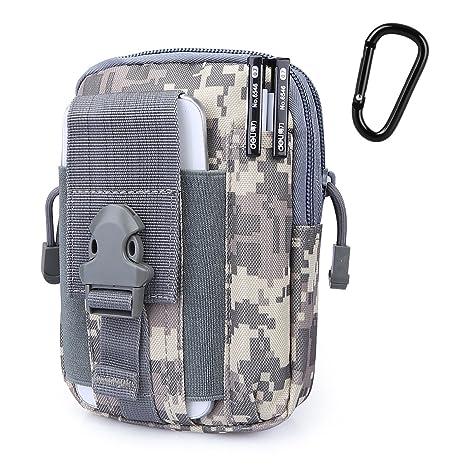 G4Free Cartera MOLLE táctica compacta; riñonera para uso diario, útil para portación oculta; canguro con funda para teléfono móvil, ideal para carrera, ...