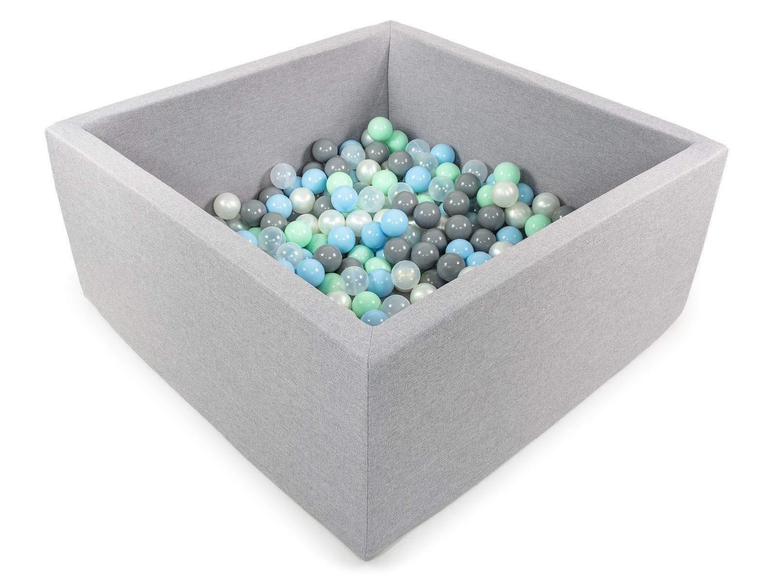 Tweepsy Soft Baby Ball Square Pool Pit 250 Balls 90x90x40cm Handmade EU - BKWZ1 by Tweepsy