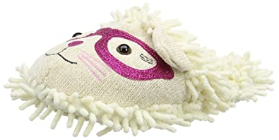 Aroma Home Shoes Fuzzy Friend Cat With Glasses Unisex Adults' Open Back...