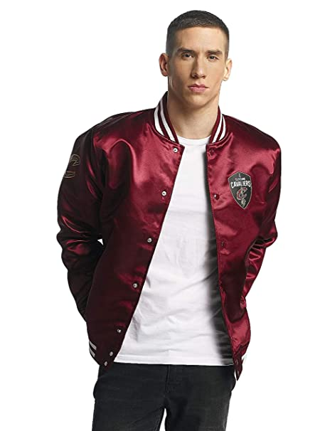 New Era NBA Cleveland Cavaliers Tip Off Sateen Bomber College Jacket Jacke: Amazon.es: Ropa y accesorios