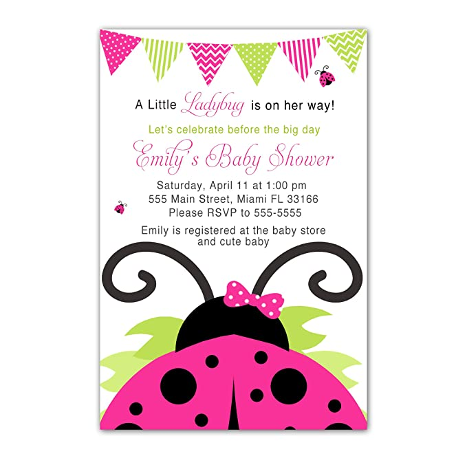 Amazon.com: 30 Invitations Baby Girl Shower or Birthday Hot ...