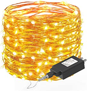 Fairy String Lights 66 FT with 200 LEDs, Ittiot Christmas Lights Waterproof Outdoor & Indoor Decorative Lights for Bedroom, Garden, Patio, Parties, UL Power Supply Copper Wire Lights