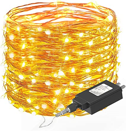 8 Modes 33ft 100 LED USB String Lights with Remote HSicily Fairy Lights Plug in