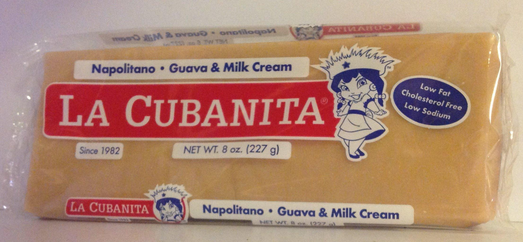 La Cubanita Napolitano Guava & Milk Cream / Guayaba Con Crema 8 Oz (Pack of