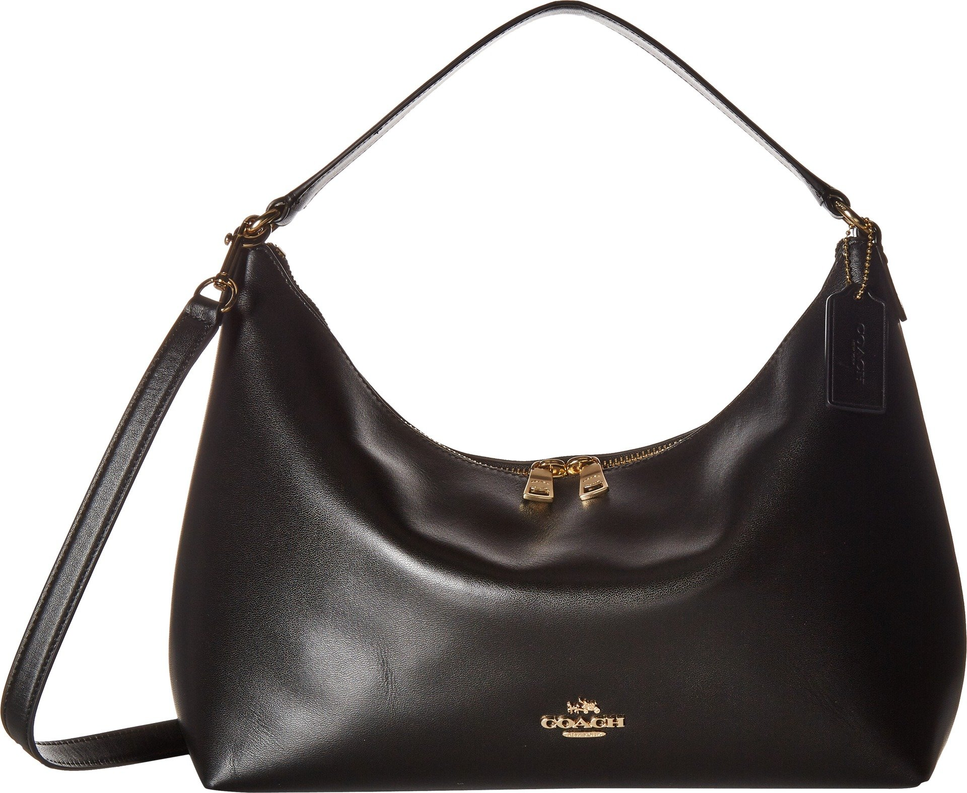 COACH Women's Pebbled Leather East/West Celeste Convertible Hobo Im/Black One Size