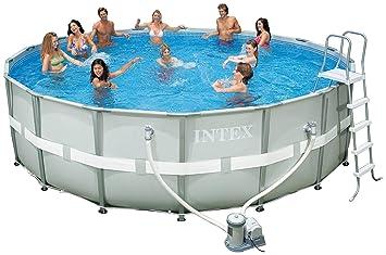 intex 54955eg 18 foot by 52 inch ultra frame pool set