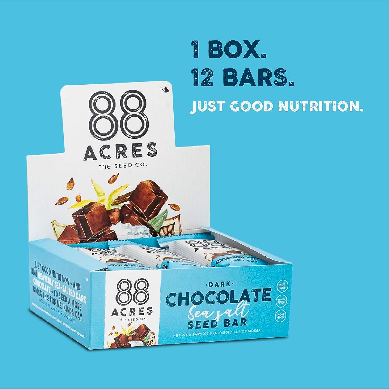 88 Acres - Barra de granola sin nueces, 12 unidades: Amazon ...
