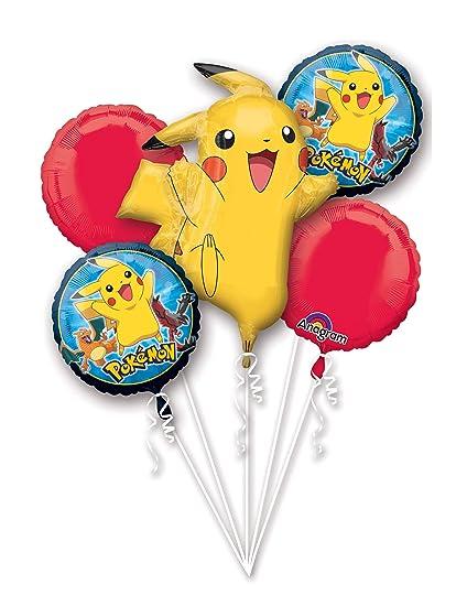 3c7373bd71eff5 Amazon.com: Anagram Pokemon Pikachu and Friends 5 Mylar Balloons ...