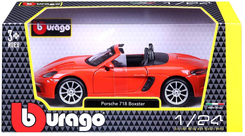 Bburago Porsche 718 Boxter Orange Echelle 1//24/ème Bburago Maisto France 21087O