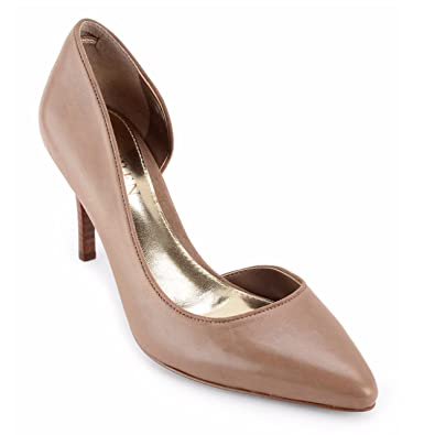 newest new lifestyle aliexpress Lauren Ralph Lauren Rube D'Orsay Dress Pumps Mushroom Leather