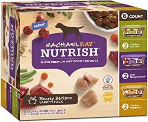 Rachael Ray Nutrish Grain Free Wet Dog Food Three Flavors Variety Pack, Case of 8 OZ Trays