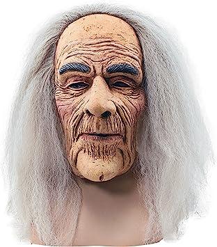 Creepy Old Man Hair Mask Accessory For Halloween Fancy Dress Mask By Partypackage Ltd Amazon De Spielzeug
