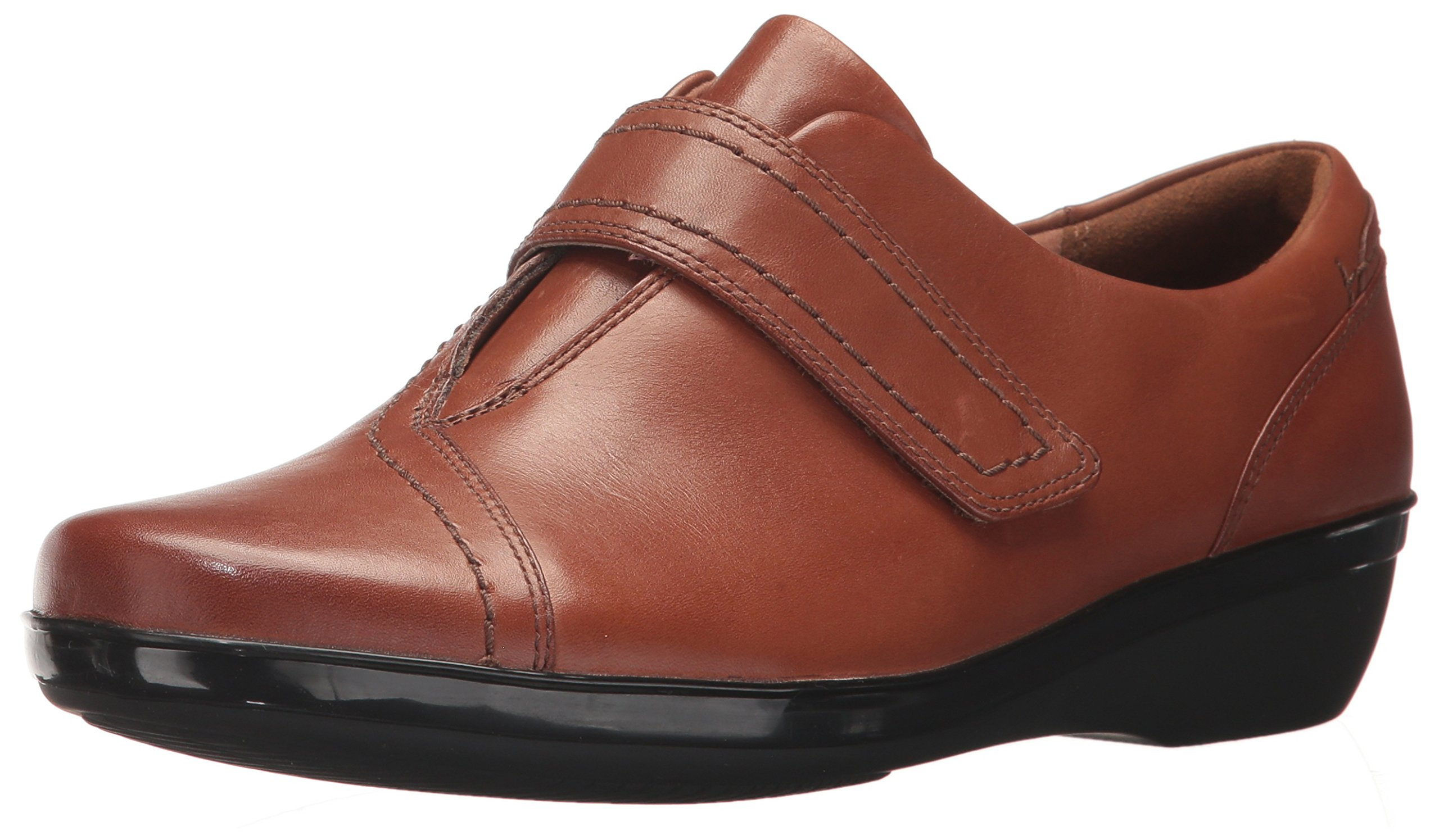 CLARKS Women's Everlay Dixey Slip-on Loafer, Brown, 6 M US
