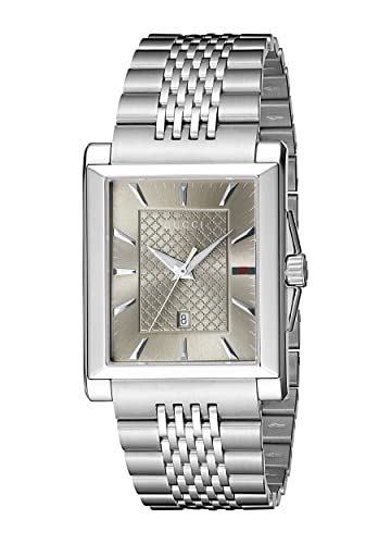 207638a9699 Buy Gucci G-Timeless Rectangle Stainless Steel Men s Watch(Model YA138402)  Online at Low Prices in India - Amazon.in