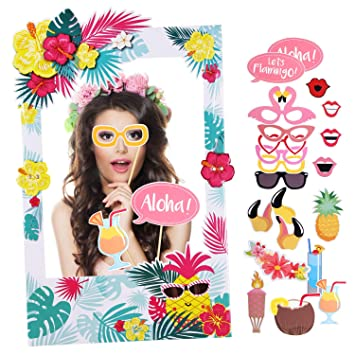 Howaf Hawaiana Photo Booth Props photocall con Accesorios ...