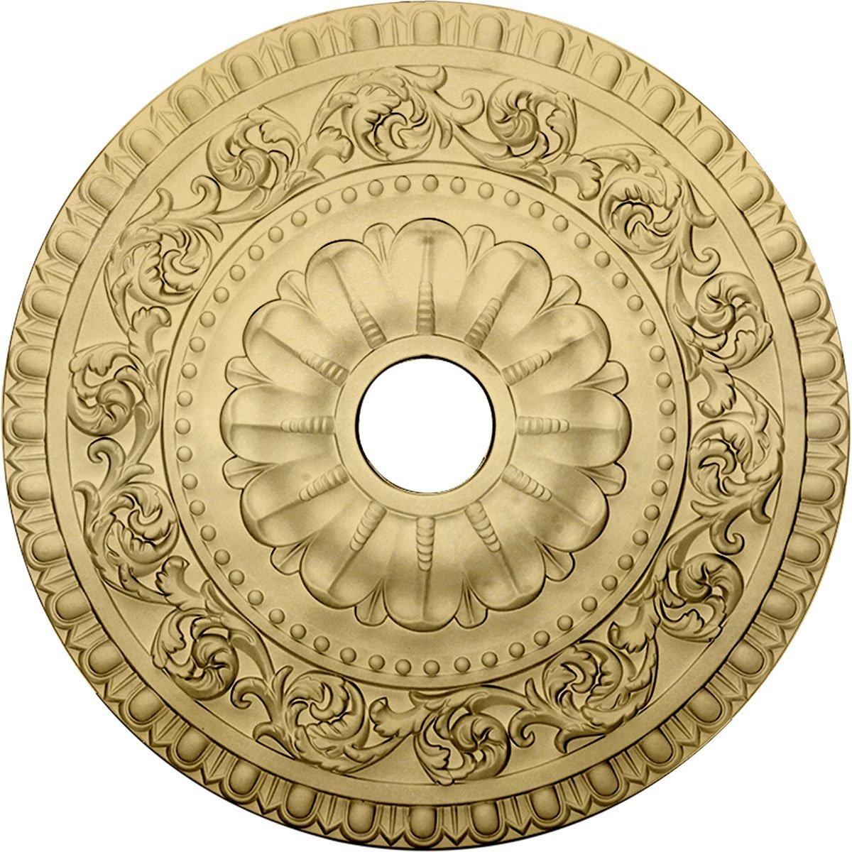 Ekena Millwork CM23VACYF 23-1/2'' x 3-1/2'' x 2-1/8'' Vaduz Ceiling Medallion, Clear Yellow
