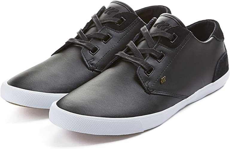 Black Leather Trainers Shoes for Men