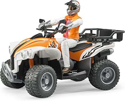 Amazon Com Bruder Quad With Driver Colors May Vary Toys Games