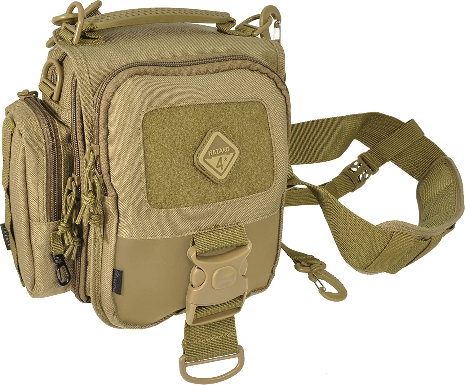 Hazard 4 Tonto Concealed Carry Mini-Messenger Shoulder Bag Travel Padded Coyote