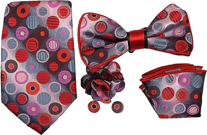 Juego de corbata y pajarita de 5 piezas, gris, multicolor, fácil ...