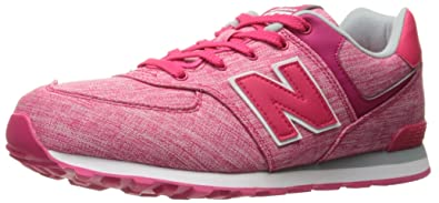 New Balance 574 High Visibility, Baskets Basses Mixte Enfant, Rose (Pink), 31 EU