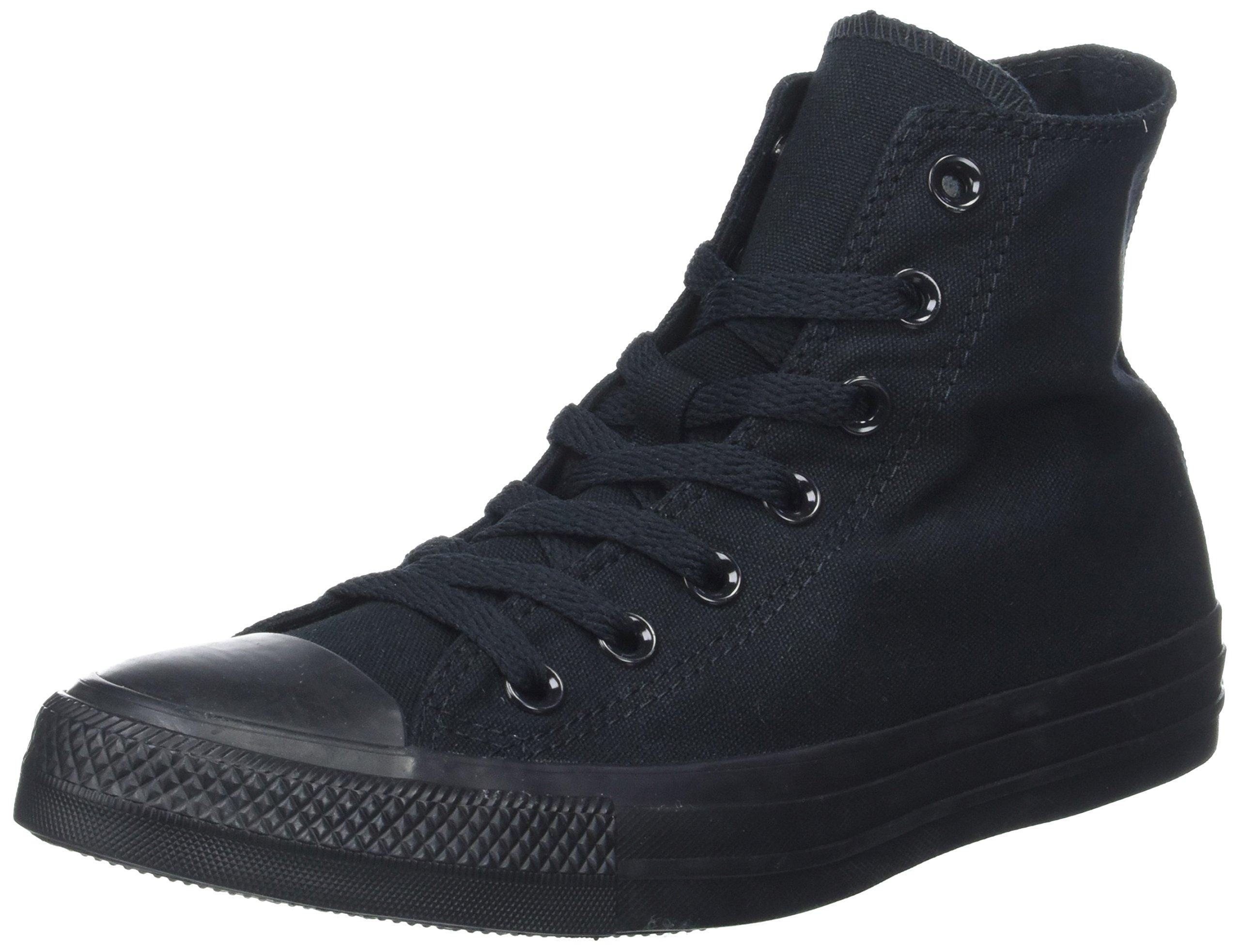 Converse Chuck Taylor All Star Canvas High Top Sneaker, Black, 8 US Men/10 US Women by Converse