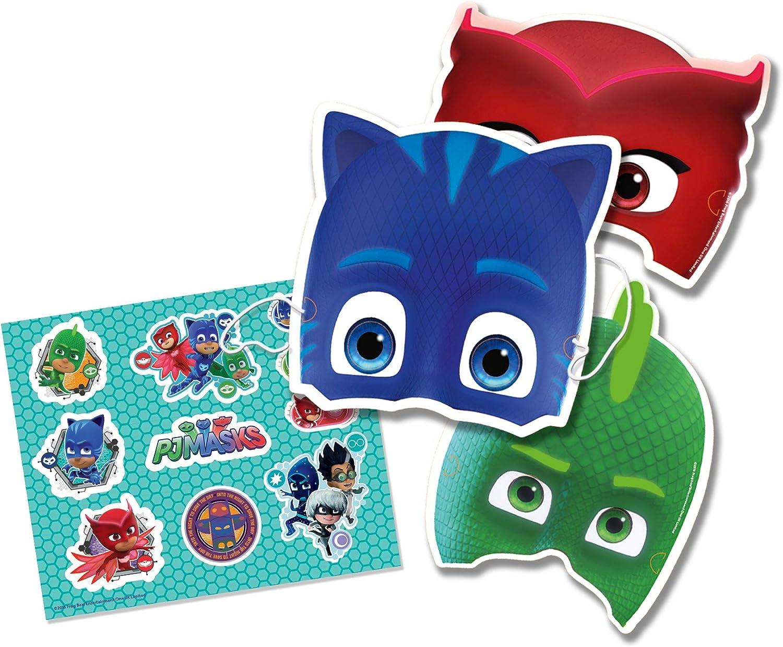 Generique - Kit 6 máscaras y Pegatinas PJ Masks niño : Amazon ...