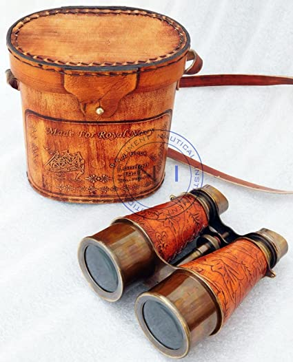 Amazon com: REPLICA WAREHOUSE Antique-Brass-Binocular