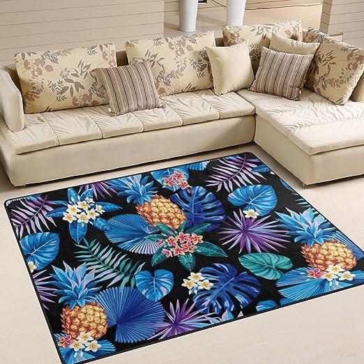 Amazon.com: naanle hawaiano piña antideslizante alfombra de ...
