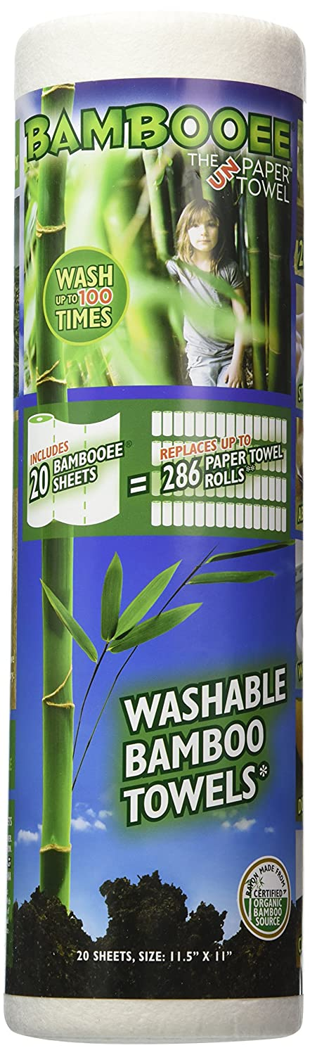 Bambooee Reusable Bamboo Towel ( Single roll, each roll comes with 20 sheets of Bamboee Towels)