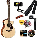 Yamaha FSX800C Small Body Cutaway Acoustic-Electric Guitar, Solid Top, with Legacy Accessory Bundle, Many Choices