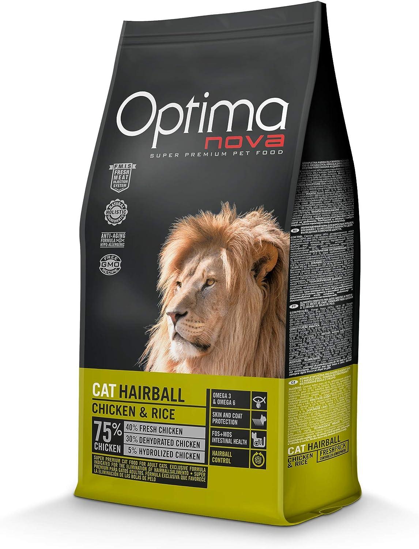 Optima nova Cat Adult Hairball Chicken & Rice 8000 g