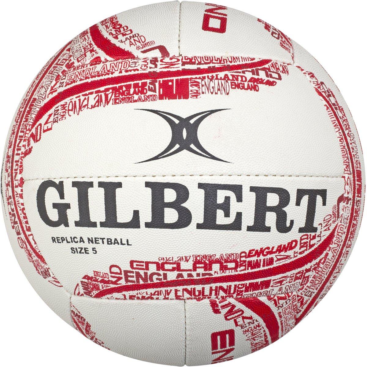 England Replica Netball - Red/White Gilbert