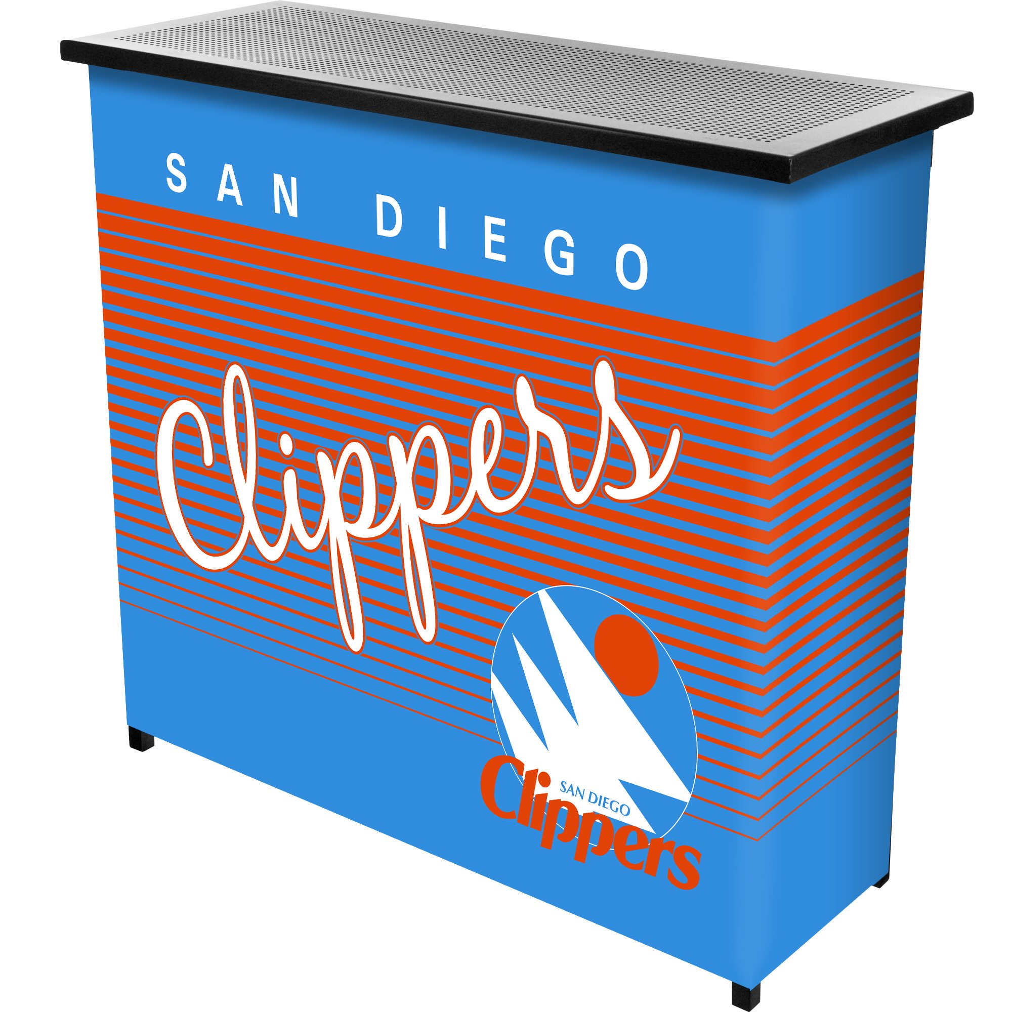 Trademark Global NBA San Diego Clippers Portable Bar with Case, One Size, Black