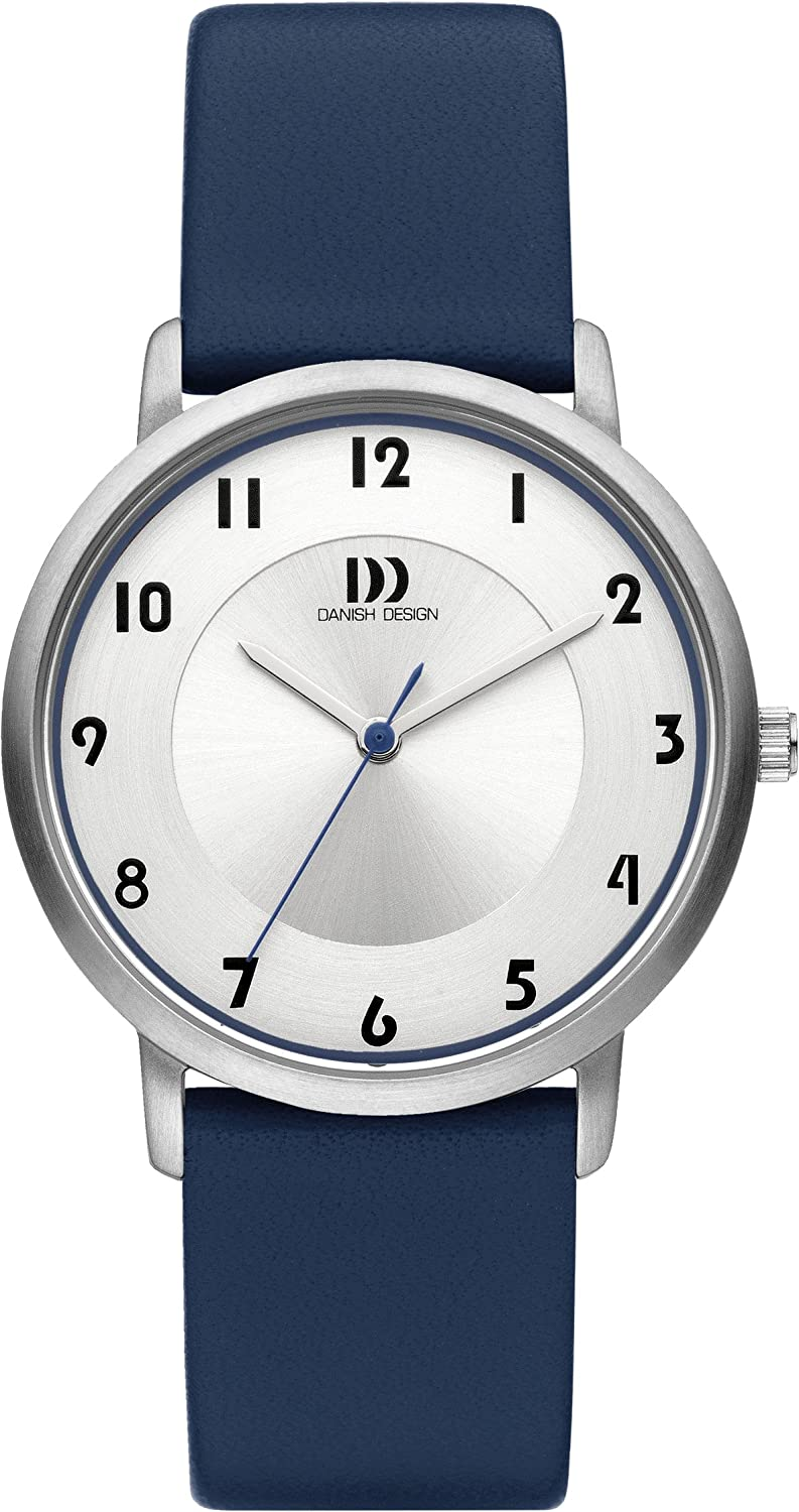 Danish Design Damen-Armbanduhr Danish Design Analog Leder Blau DZ120420