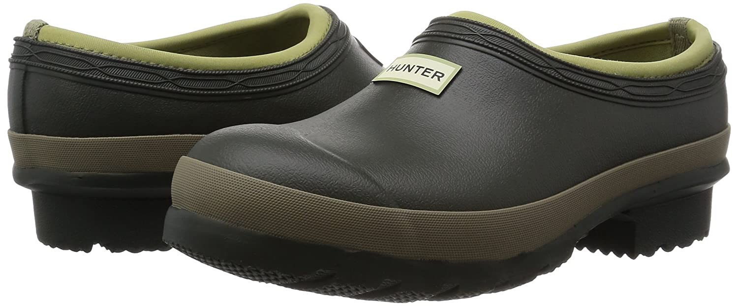 Amazoncom Hunter Gardener Clog Dark OliveClay Green Womens